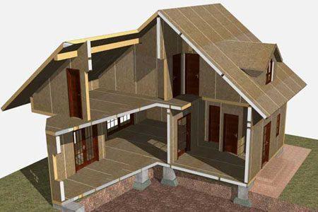 Строительство зданий на основе стеновых SIP панелей в Ростове-на-Дону